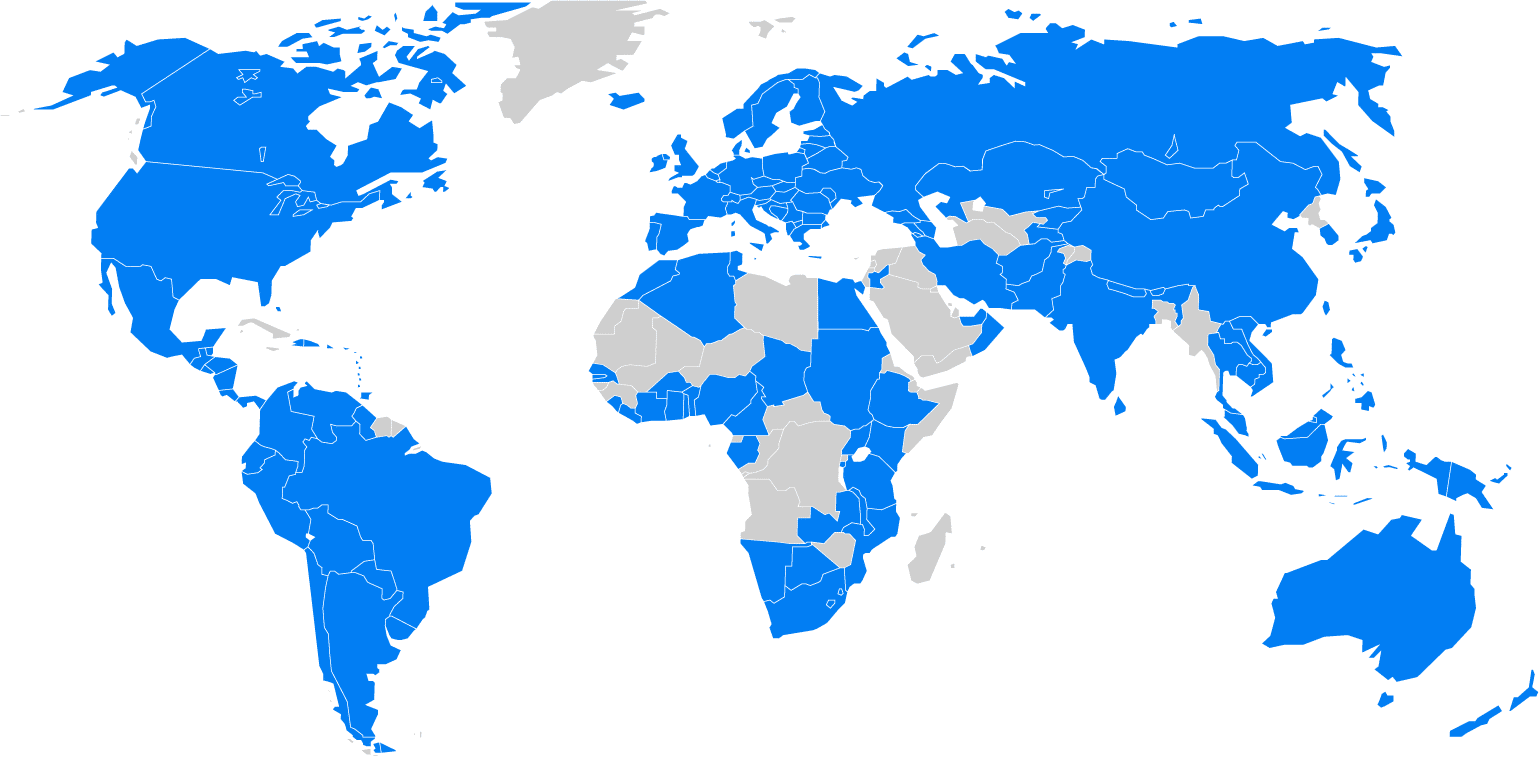aiesec world map